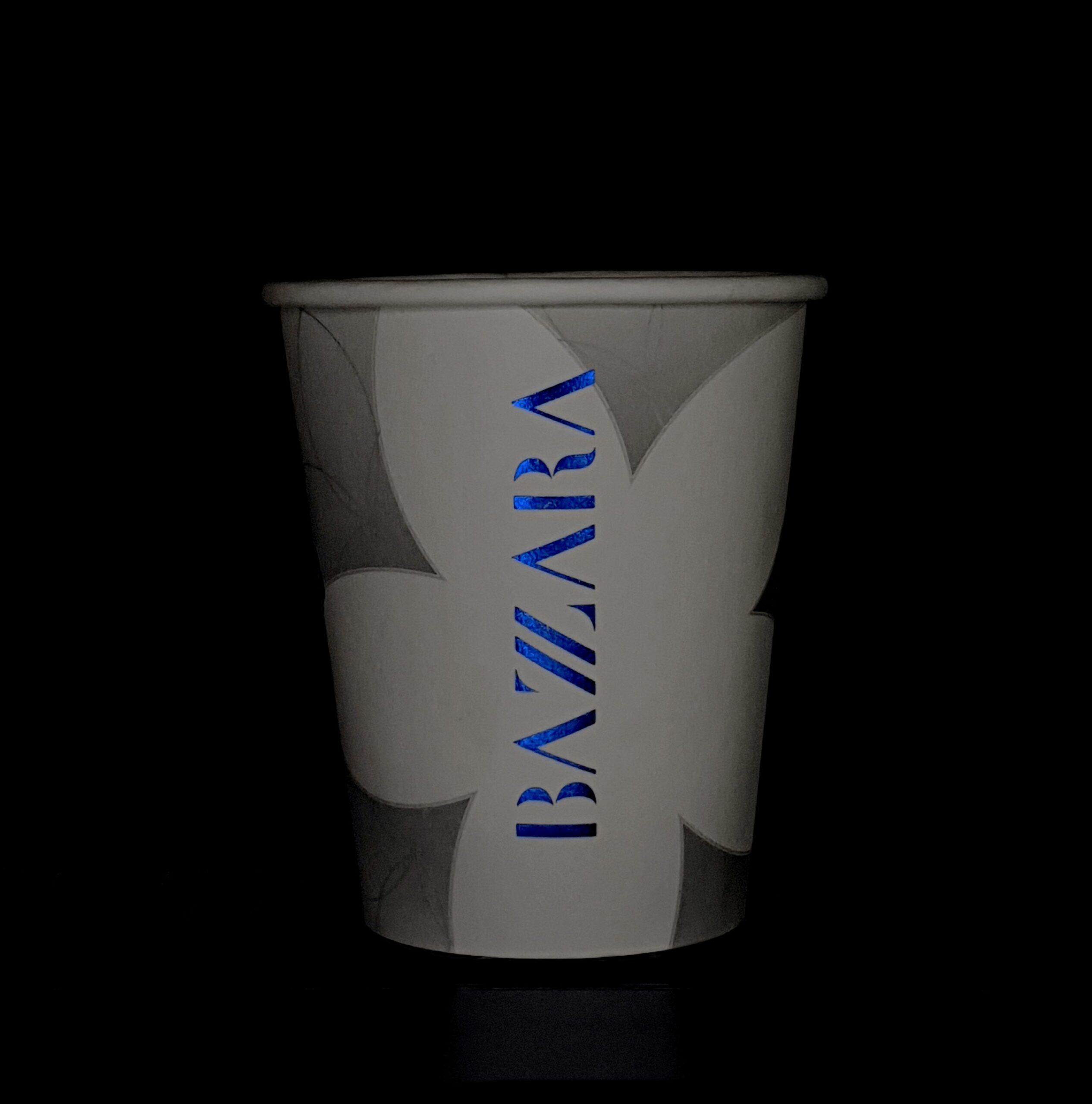 Pahare de carton Bazzara premium