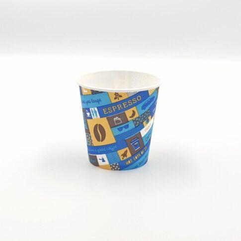 Pahar de carton Kaleidoscop - 120 ml (4oz).